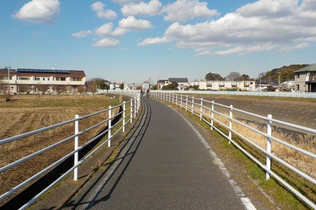 Tuyến đường đạp xe trên bờ sông Sakai