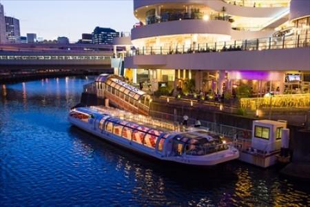三溪园和横滨夜景灯光观光船