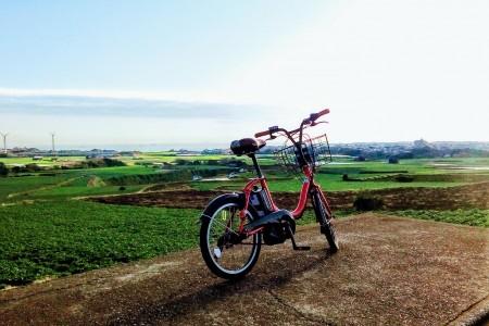 在三浦半岛最南端的城之岛上充分享受单车之旅的乐趣
