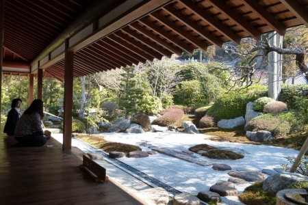 An old and new place where you can feel the beauty of the Japanese garden 'Kare san sui'