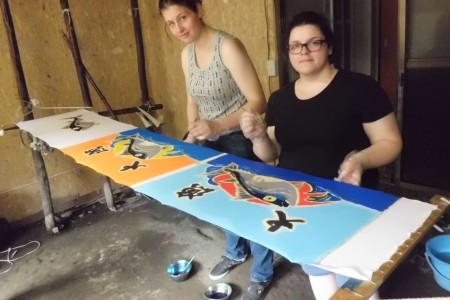 미사키 항구에서 즐길 수 있는 체험 - 풍어 깃발 염색과 어부 요리 만들기 교실