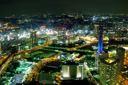 Take in the breathtaking views of Yokohama from the sky