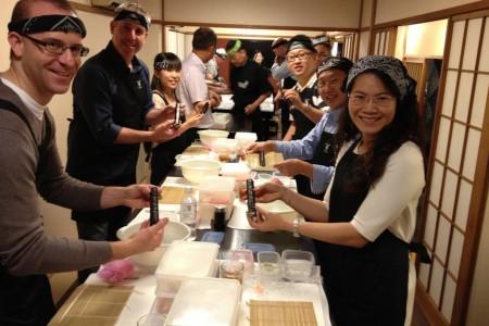 후지사와슈쿠와 초밥 만들기 체험