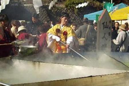 大山豆腐节和参拜大山阿夫利神社下社