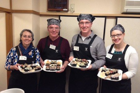 Sushi craftsman initiative, experience learning how to make nigiri-zushi in a small town