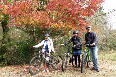 A cycling tour surrounded by the nature of Hakone and lake Ashino