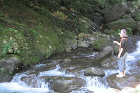 Trout Fishing and BBQ in Hyuga Gorge