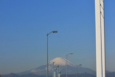 SunSun Marche and Mount Fuji (Mt Fuji) from the Shonan Ginga Bridge