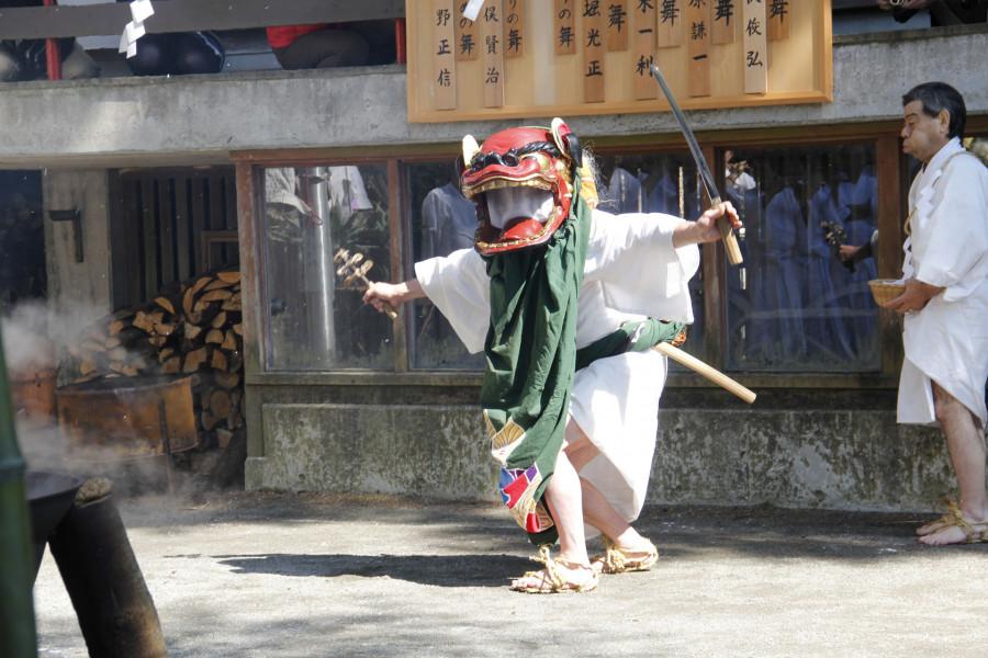 Yudate-Shishimai Lion Dance at Sengokuhara