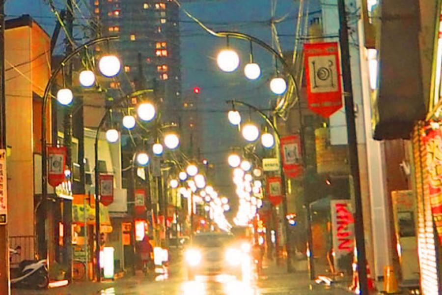 ถนนช้อปปิ้งซากามิฮาระและผลิตภัณฑ์ที่ทำสดใหม่