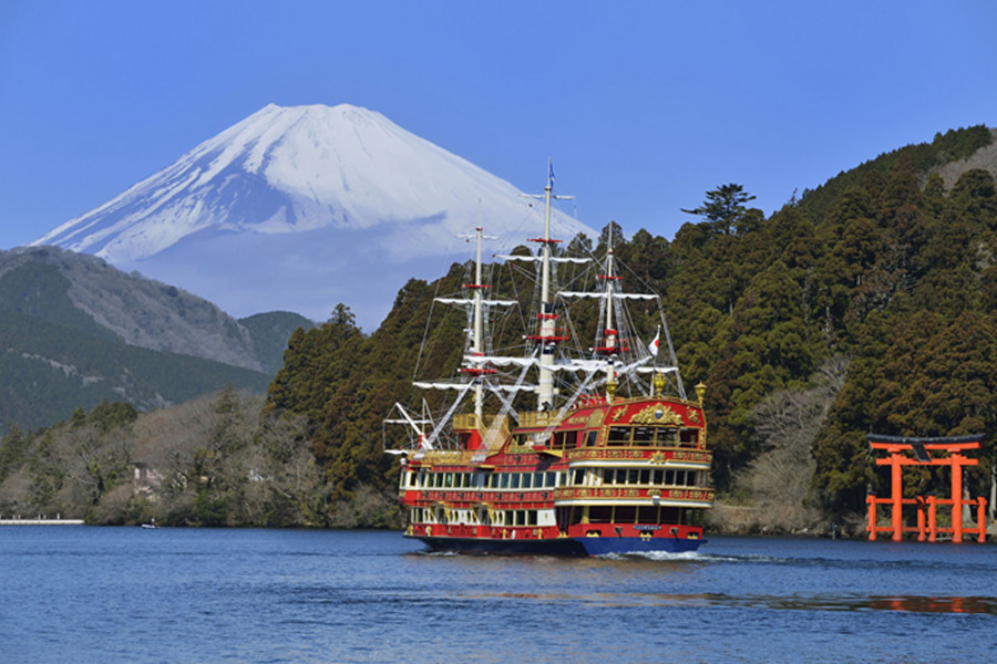 Des vues sur le mont Fuji, Kamakura et Hakone depuis un taxi