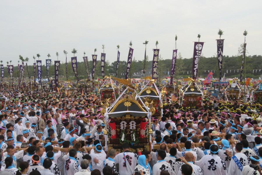 """茅ヶ崎海岸 """"浜降祭"""""""