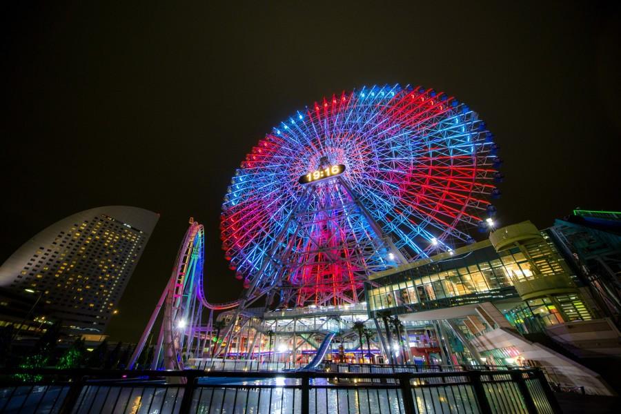 Nächtliche Perspektiven von Yokohama