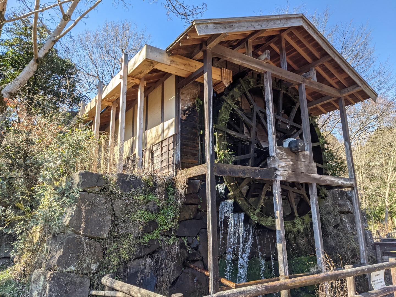 Working watermill at Izumi-no-Mori Park