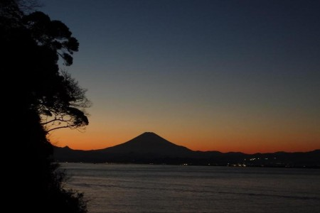Mt. Fuji viewing spot in Enoshima