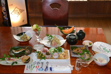 Sweetfish dishes(Katsuragawa-tei of Ogura Bridge)