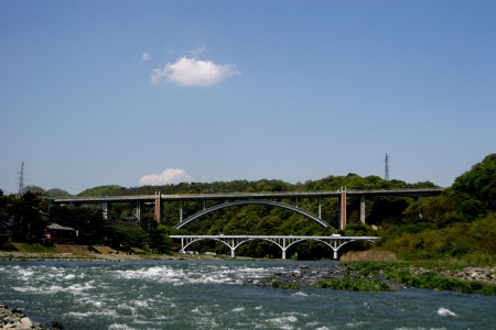 Ogura Bridge and enjoying Streams of Sagami River