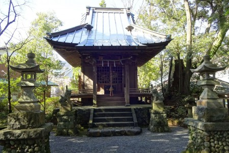 Le sanctuiaire Kumano Shrine, Le parc Manyo