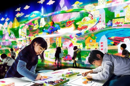 Team lab Island        Future amusement park        lala port Shonan Hiratsuka