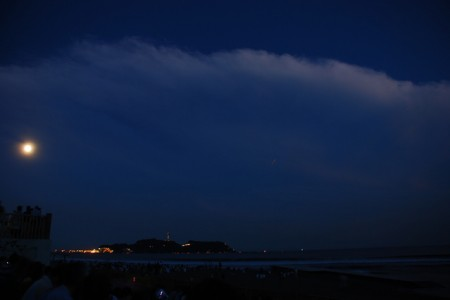 Viewing spot of 'Japan Hundred moon'in Enoshima