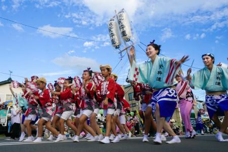 Awa Odori der Stadt Kaisei