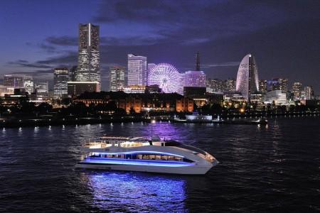 Croisière à Yokohama - La vue sur Yokohama de nuit dans un fantastique café-bâteau