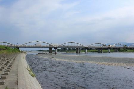 Le quai de la rivière Sakawagawa