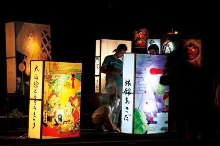 เทศกาลโคมไฟโอยามะ (เอะ-โทโระ มัตสึริ)