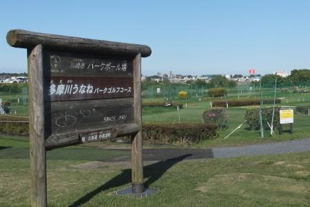 Chơi gôn tại công viên Tamagawa Unane