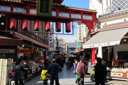 Kawasakidaishi - Nakamise-dori Straße