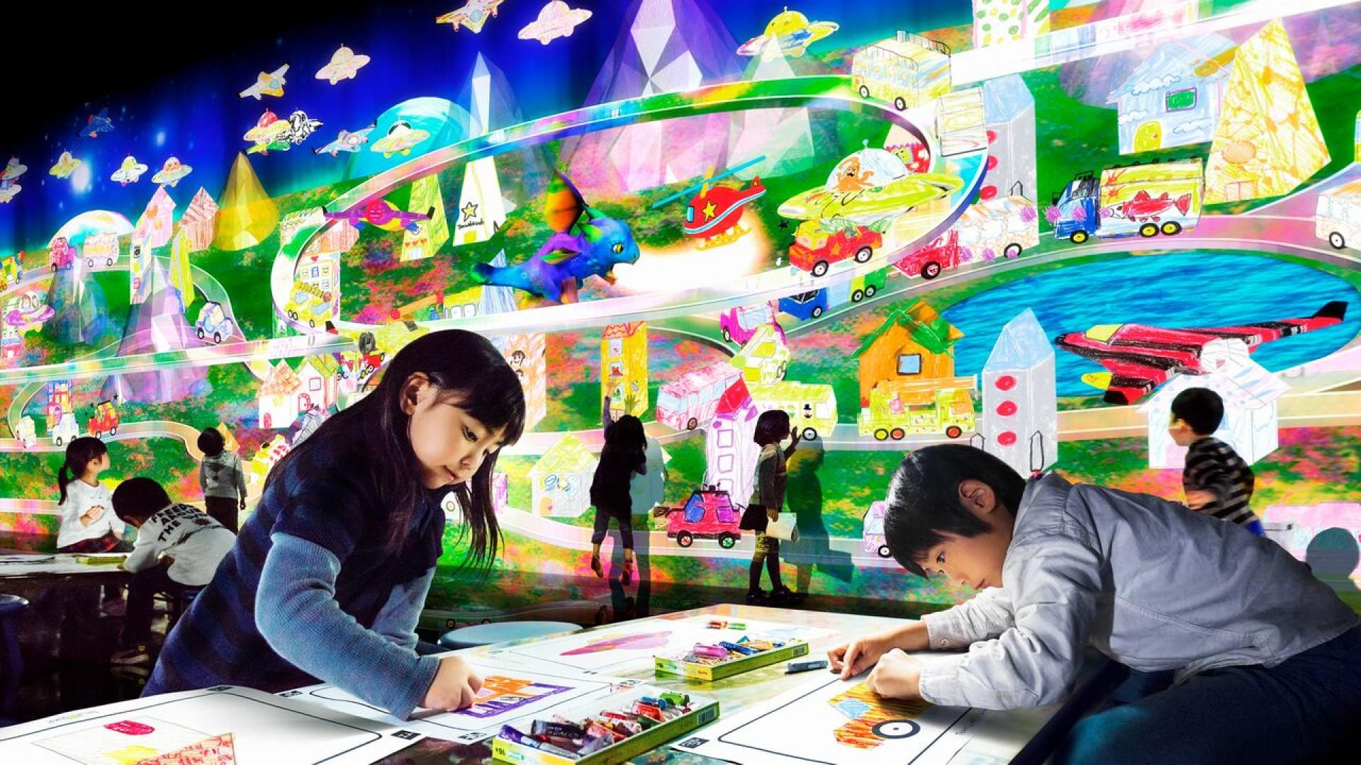 Team lab IslandFuture amusement parklala port Shonan Hiratsuka