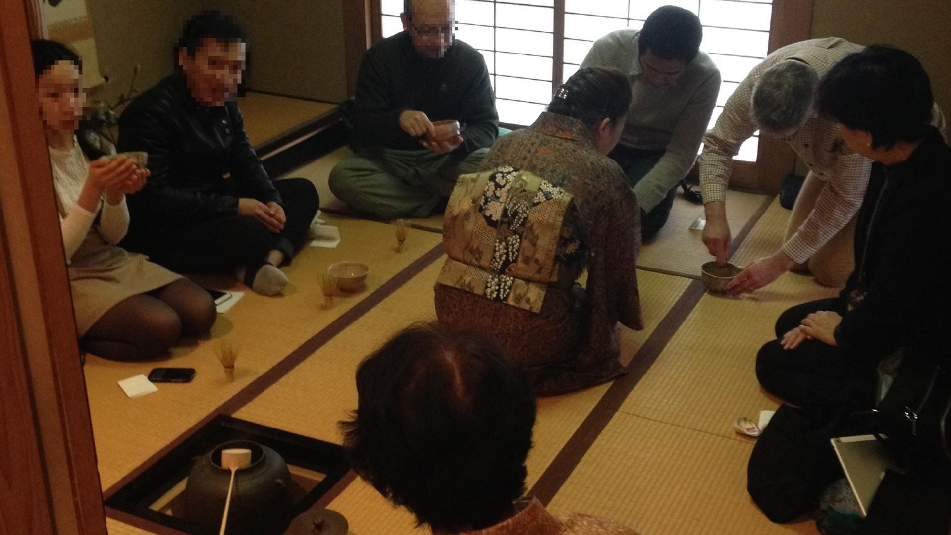 Cérémonie du thé à Tsunakawa