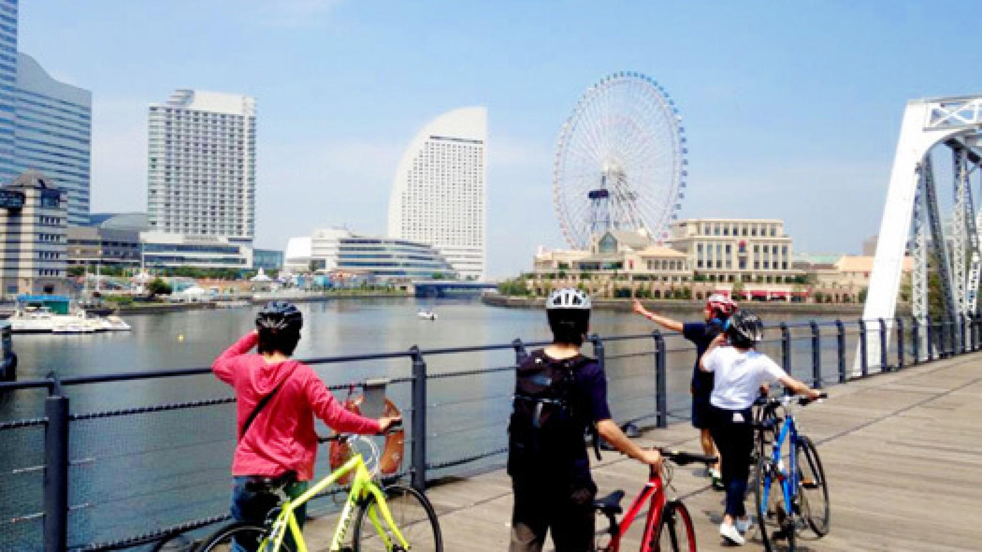Circuit en vélo à Yokohama
