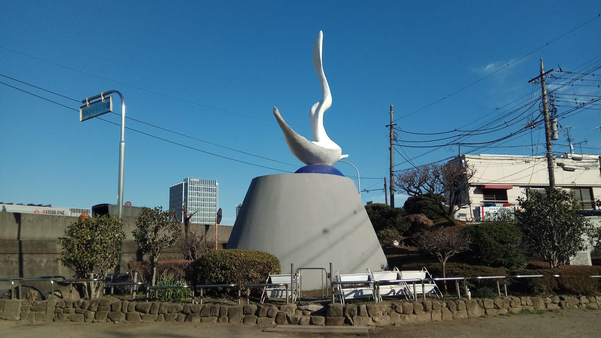 รูปปั้นโอะคะโมะโตะ คะโนะโคะ (มารดาของโอะคะโมะโตะ ทาโระ)