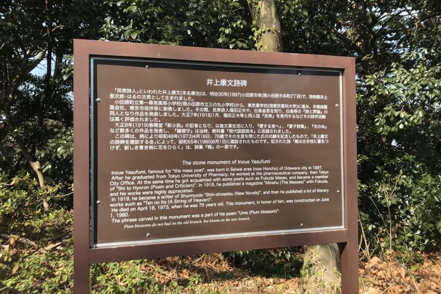 Literature Monument of Yasubumi Inoue - 2