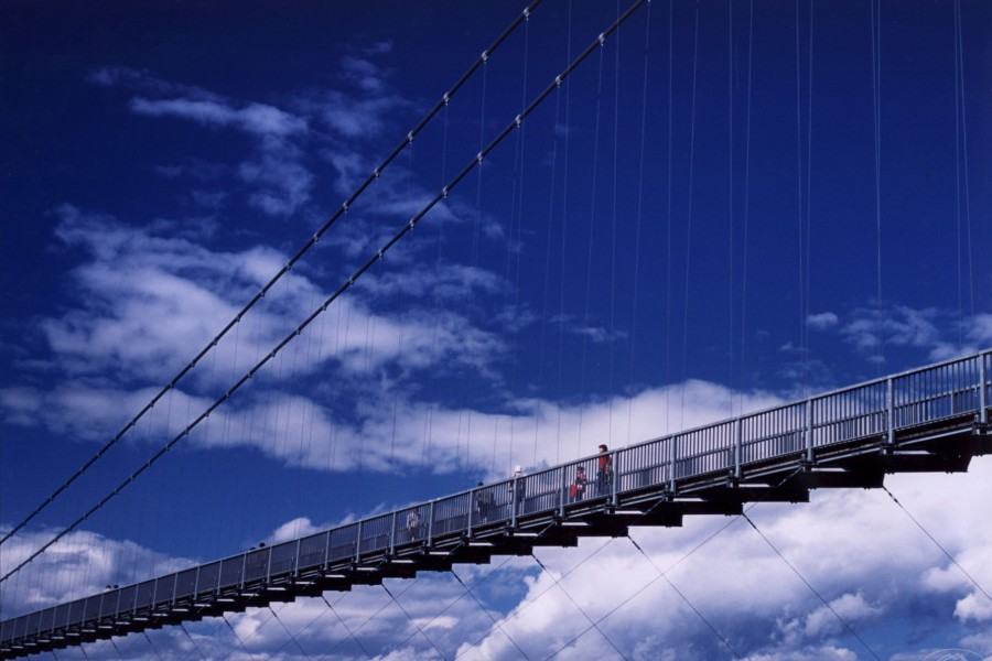 Miyagase Lake Otsuribashi (large suspension bridge)
