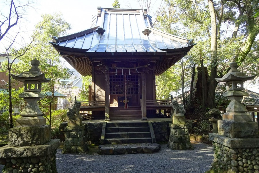 Le sanctuiaire Kumano Shrine, Le parc Manyo - 1