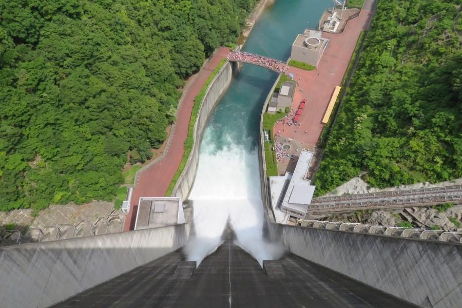 미야 가세 댐 관광 (수문 개방) - 2