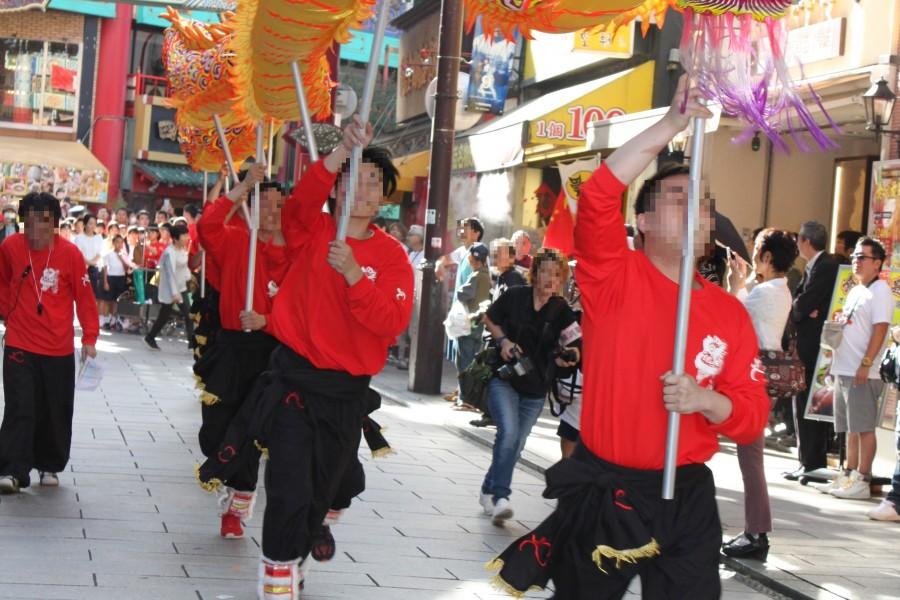 중국 용& 사자 댄스