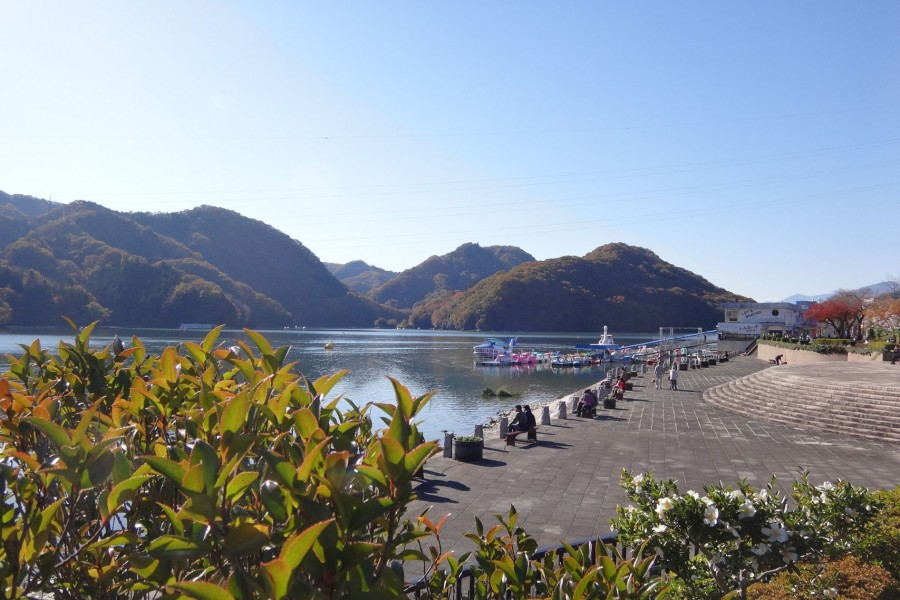Lake Sagami excursion boat, rowing a small boat - 2