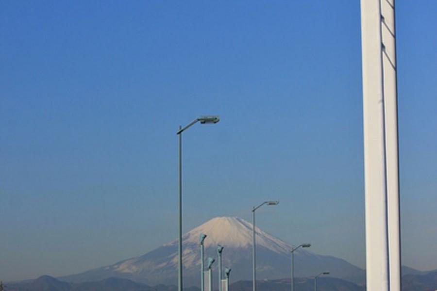 Le pont Shonan-ginga ( vue sur le Mont Fuji)